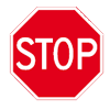 Stop: Verleen voorrang aan bestuurders op de kruisende weg